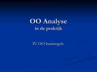 OO Analyse in de praktijk