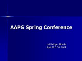 AAPG Spring Conference