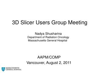 3D Slicer Users Group Meeting