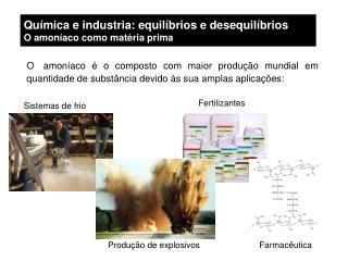 Química e industria: equilíbrios e desequilíbrios O amoníaco como matéria prima