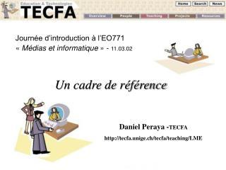 Journée d'introduction à l'EO771 « Médias et informatique » -  11.03.02