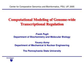 Computational Modeling of Genome-wide Transcriptional Regulation
