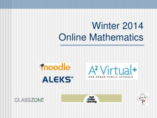 Winter 2014  Online Mathematics