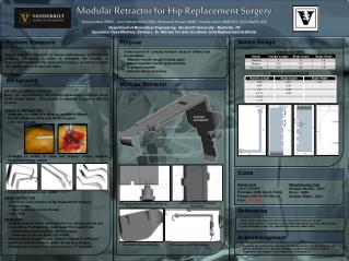 Modular  Retractor for  Hip Replacement  Surgery