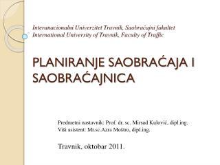 Predmetni nastavnik: Prof.  d r .  s c . Mirsad Kulović , diplg.