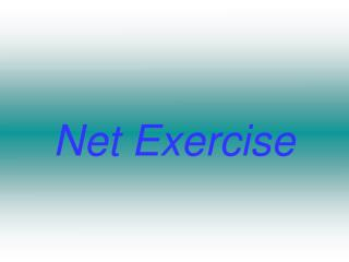 Net Exercise