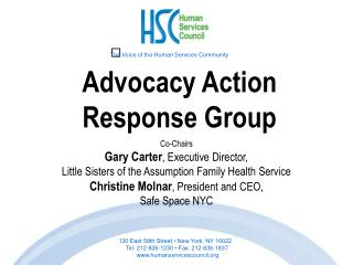 Advocacy Action  Response Group