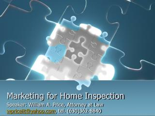 Marketing for Home Inspection