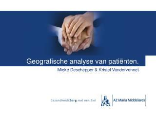 Geografische analyse van patiënten.