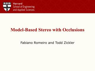 Model-Based Stereo with Occlusions