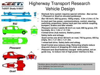 Higherway Transport Research   Vehicle Design