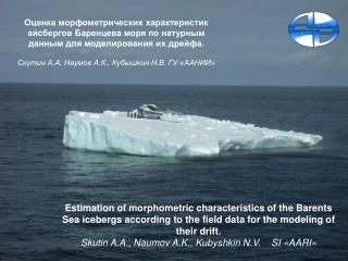 Положение айсбергов по данным экспедиций ААНИИ 2003 – 2010 Icebergs position   2003 - 2010