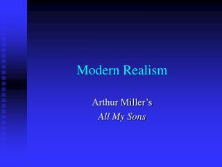 Modern Realism