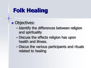 Folk Healing