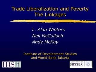 L. Alan Winters Neil McCulloch Andy McKay