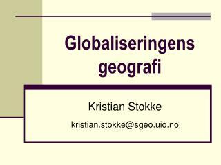 Globaliseringens geografi