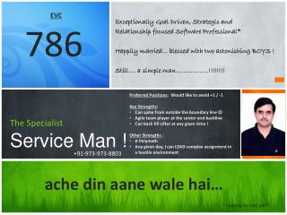 The Specialist Service Man !
