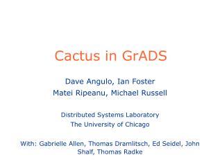 Cactus in GrADS