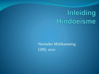 Inleiding Hindoeïsme