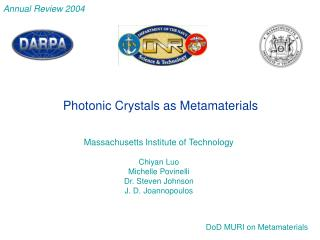 Massachusetts Institute of Technology Chiyan Luo Michelle Povinelli Dr. Steven Johnson