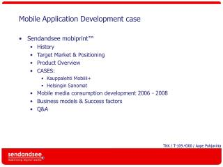 Mobile Application Development case