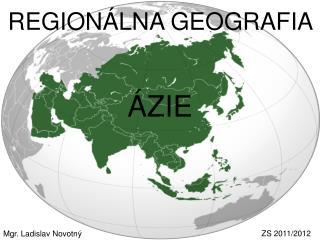 REGIONÁLNA GEOGRAFIA