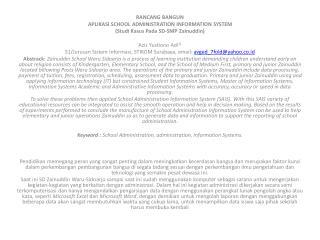 RANCANG BANGUN APLIKASI SCHOOL ADMINISTRATION INFORMATION SYSTEM