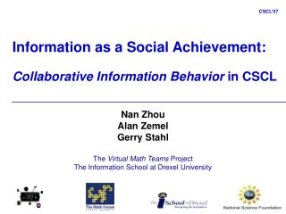 Information as a Social Achievement: Collaborative Information Behavior  in CSCL
