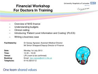 Financial Workshop  For Doctors In Training