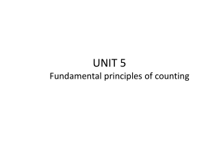 Fundamental counting principle Factorials Permutations Combinations