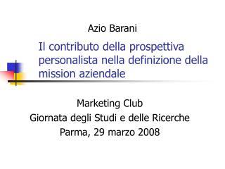Il contributo della prospettiva personalista nella definizione della mission aziendale