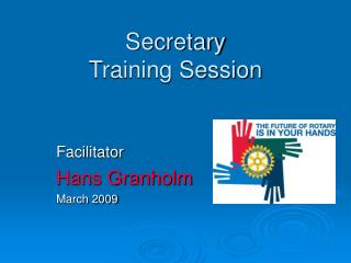 Secretary Training Session