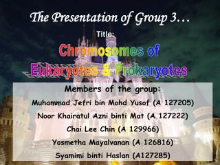 The Presentation of Group 3�