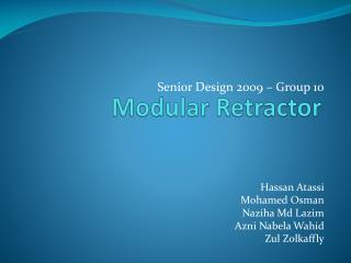 Modular Retractor