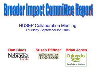 Broader Impact Committee Report