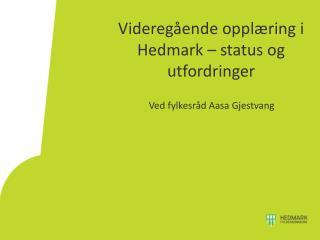 Videregående opplæring i Hedmark – status og utfordringer