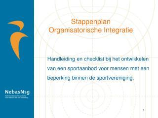 Stappenplan Organisatorische Integratie
