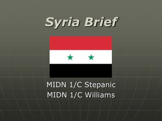 Syria Brief