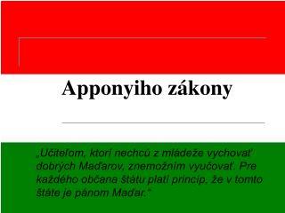 Apponyiho zákony