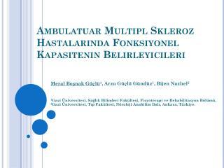 Ambulatuar Multipl Skleroz Hastalarında Fonksiyonel Kapasitenin Belirleyicileri