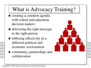 What is Advocacy Training?