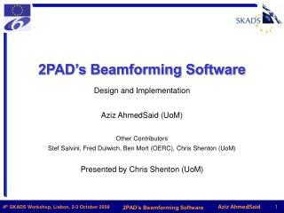 2PAD�s Beamforming Software