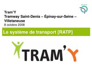 Tram'Y Tramway Saint-Denis – Épinay-sur-Seine – Villetaneuse 8 octobre 2008