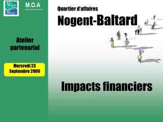 Quartier d'affaires  Nogent- Baltard