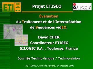 Projet ETISEO