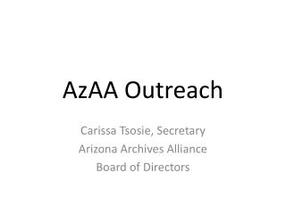 AzAA Outreach