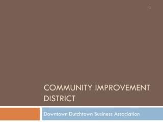 Community Improvement District