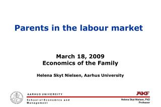 Parents in the labour market