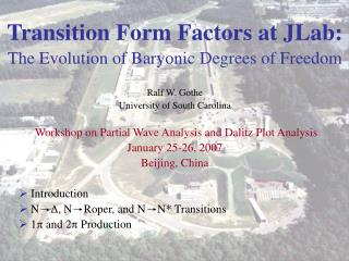 Transition Form Factors at JLab: The Evolution of Baryonic Degrees of Freedom