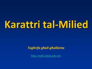 Karattri tal-Milied